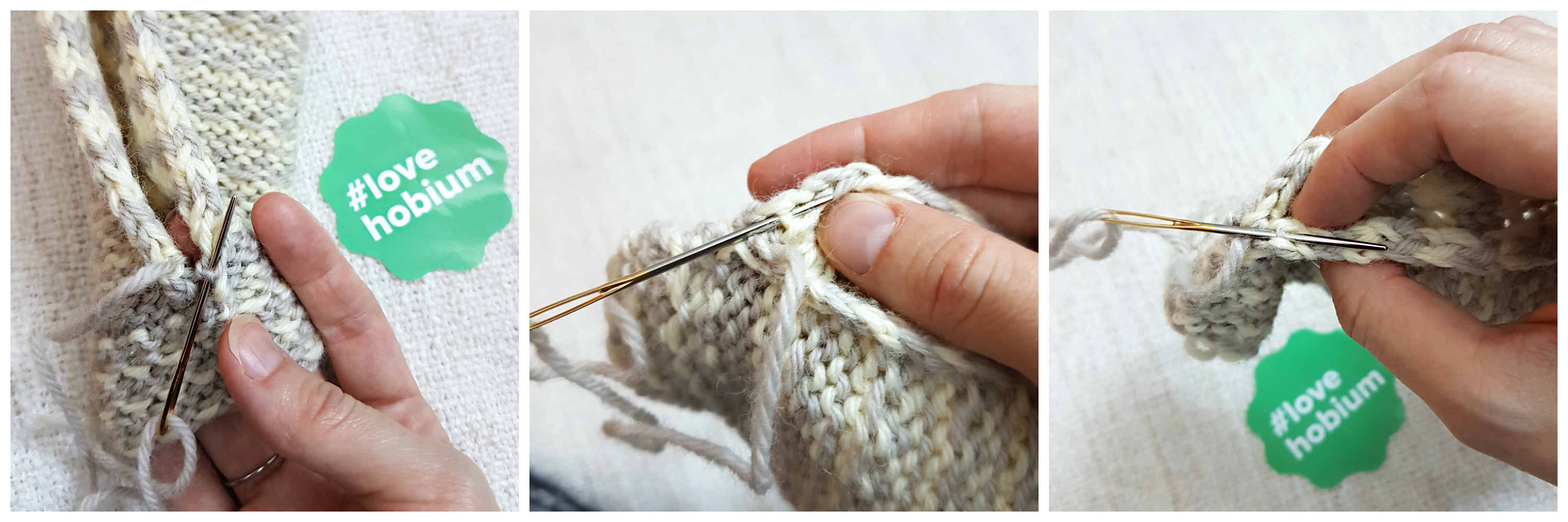 Easy Striped Fingerless Mitts | Hobium International