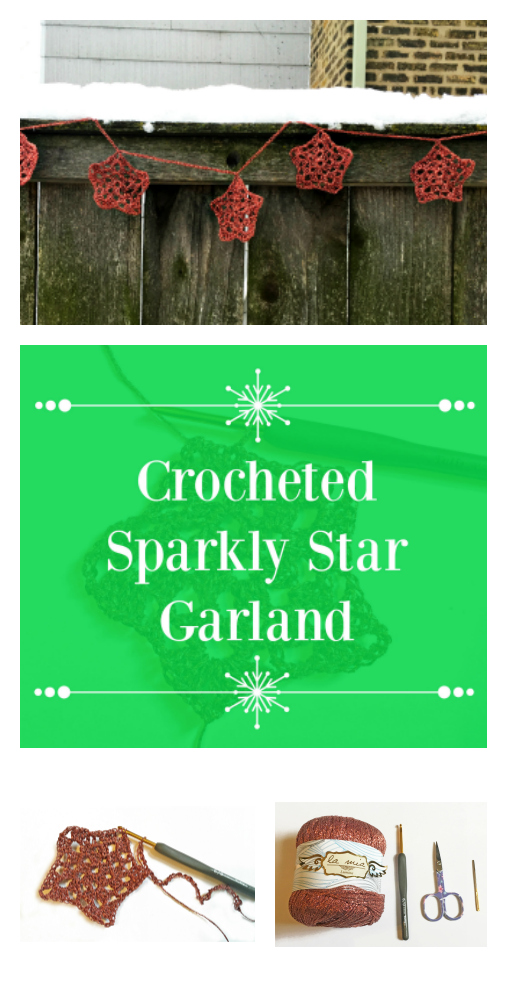 Make a sparkly crochet start garland for less than $20! blog.hobium.com