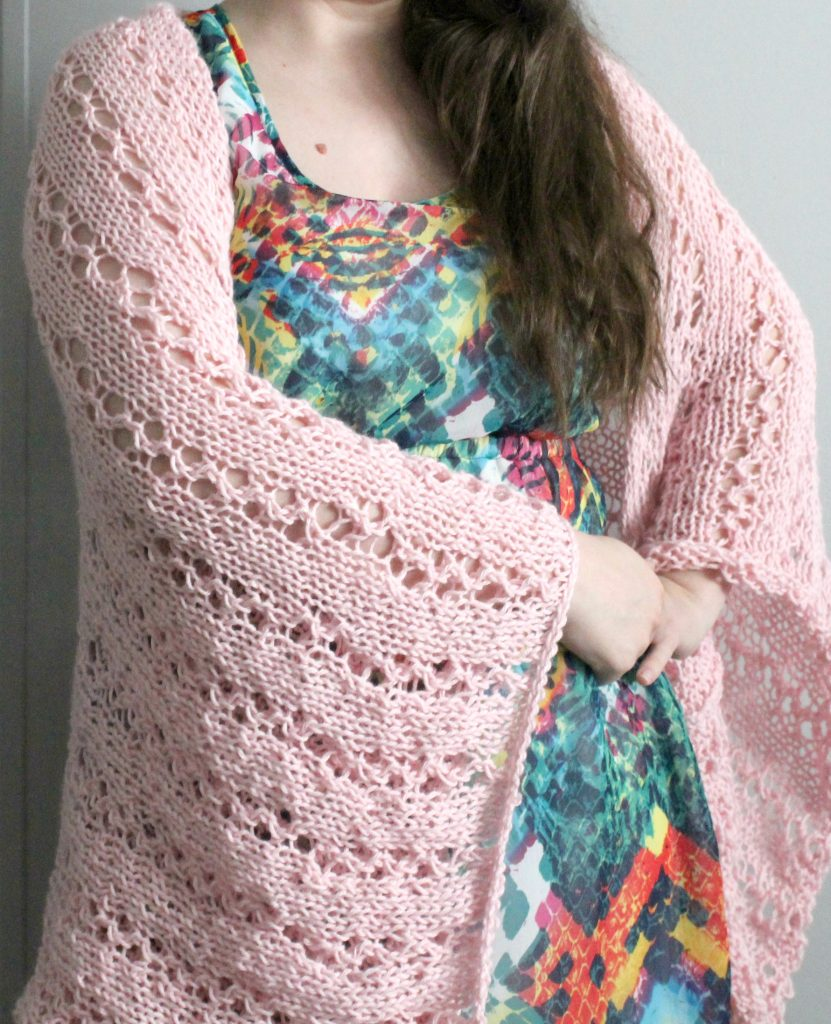 The Perfect Knitted Blanket Shrug Pattern By Jerica From ...