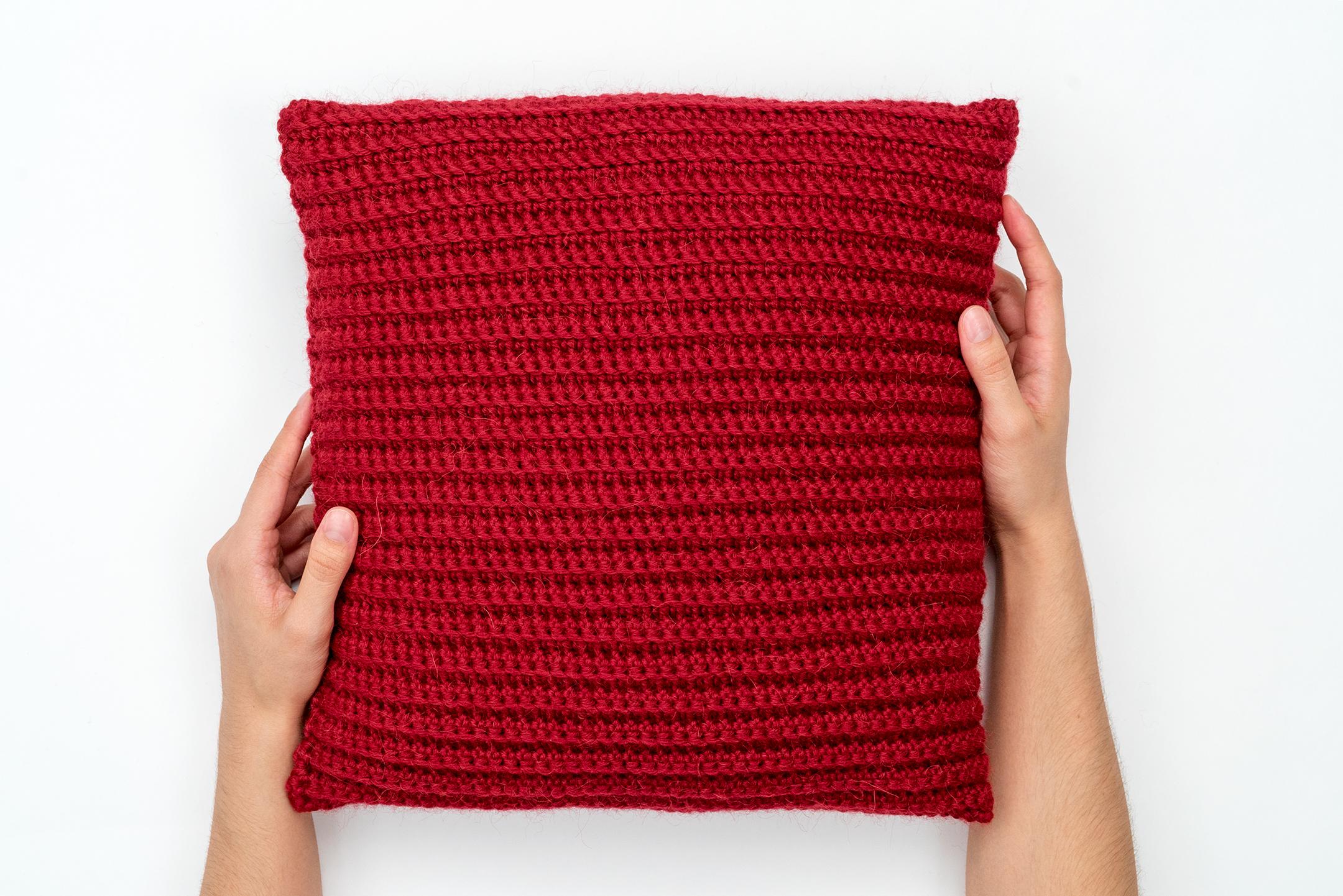 Textured Crochet Pillow Pattern by BrennaAnnHandmade - Hobium Blog