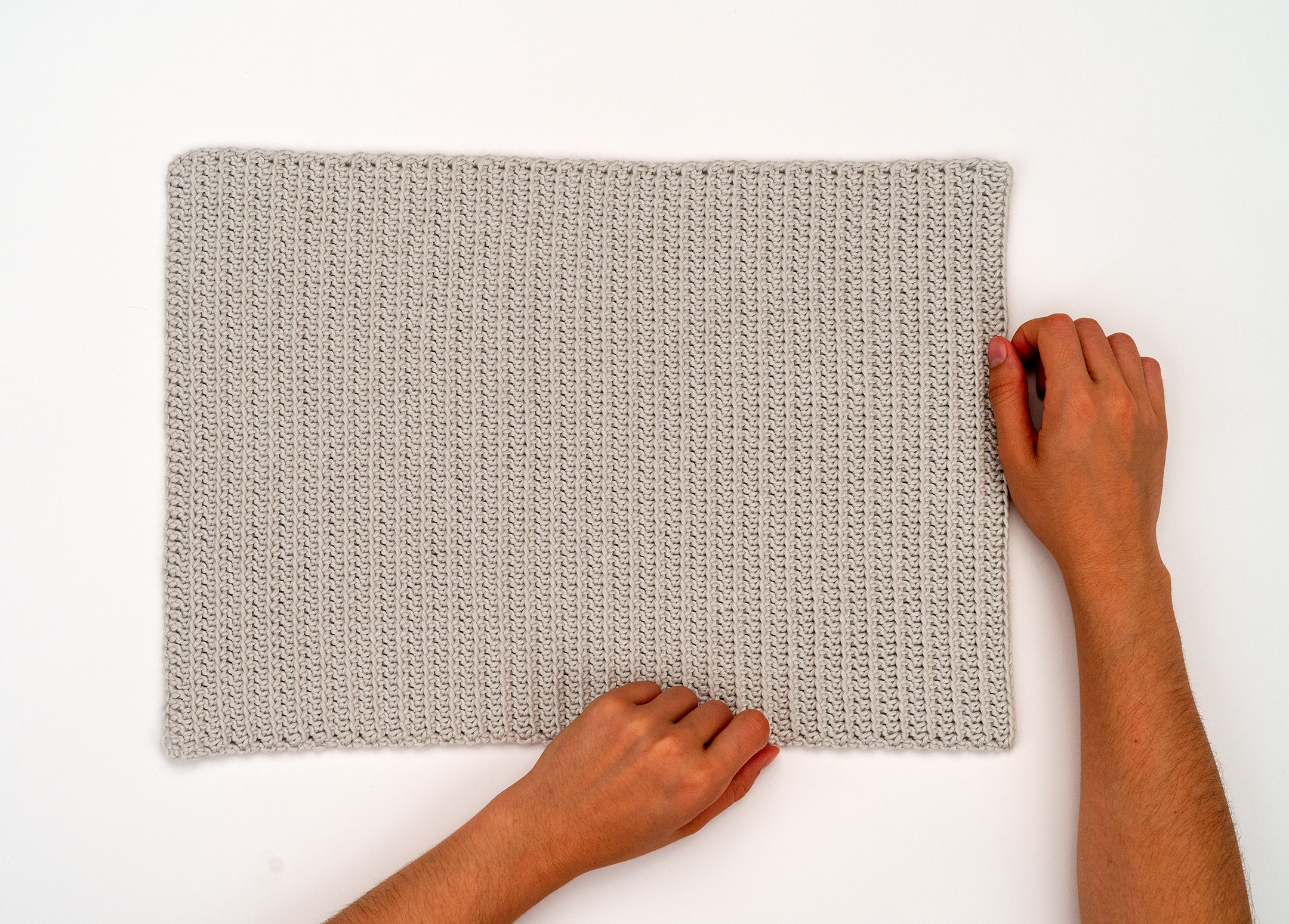 The Ribbed Cotton Crochet Placemat Pattern By Brennaannhandmade