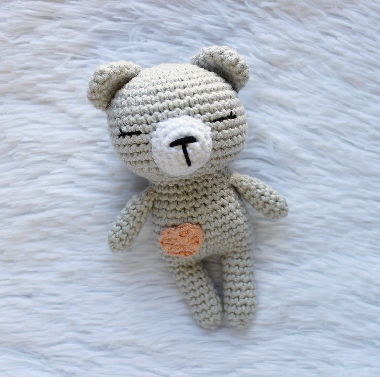 Sleepy Bear amigurumi pattern by Madelenon | Amigurumi de animais ... | 743x749
